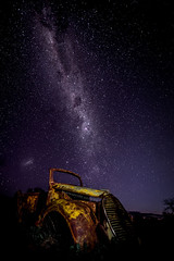 Old Car and the Milky Way (Leanne Cole) Tags: nikond800 leannecole leannecolephotography photos fineartphotography fineartphotographer images environment environmentalphotography environmentalphotographer photographer victoria australia astrophotography milkyway oldcar pinklakes murraysunsetnationalpark