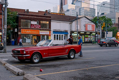 the.human.scale (jonathancastellino) Tags: car toronto leica ford mustang lot church dundas figure figures series parked parking street