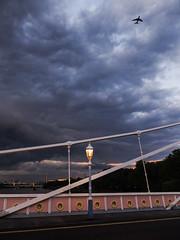 DSCF3526 (Cproland1986) Tags: london uk thames battersea bridge sunset clouds