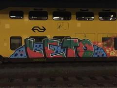 Maastricht (Pictures? stuurjetroepnaarmij@yahoo.nl) Tags: zuidoost graffiti trainart paintedtrain