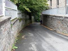 Koblenz-Arzheim - Blindtal (onnola) Tags: strase street mauer wall kurve bend zaun gitter gelnder railing fence eng arzheim koblenz rheinlandpfalz deutschland rhinelandpalatinate germany blindtal