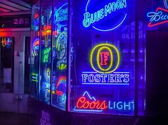 2am cut off (pbo31) Tags: california bayarea nikon d810 color night dark august 2016 summer boury pbo31 sanfrancisco blue neon market beer store 9th folsomstreet soma window