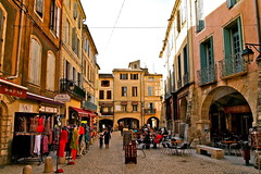 Centre Ville...Sommires (MickyFlick) Tags: france history tourism architecture village tourist medieval tourists architectural historic historical department touristattraction centreville gard languedocroussillon sommieres touristdestination mickyflick