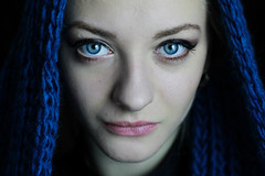 DR (Andi Topiczer) Tags: blue portrait cute love girl contrast canon 50mm eyes portret andi rk denisa 60d topiczer