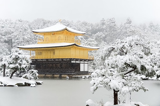 雪の金閣寺舎利殿 / Kinkaku-ji Temple in Winter