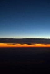 Sunset at 30,000 feet (K e v i n) Tags: sunset arizona sky clouds plane airplane fly flying inflight az windowseat upintheair