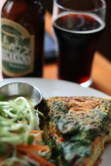 Lunch at SOBO (Always_be_closing) Tags: canada britishcolumbia vancouverisland tofino lager quiche 2014 sobo v55