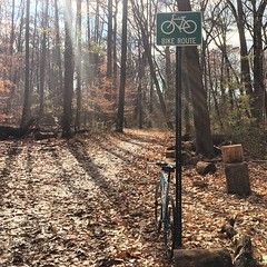 Probably won't see another day like today until the spring. #epic  #weavercycleworks #custombicycles #rideinthewoods