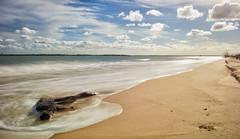 The Slowly Receding Tide (Kristin Repsher) Tags: longexposure nikon waves australia queensland fraser fraserisland hightide southeastqueensland hookpoint d700