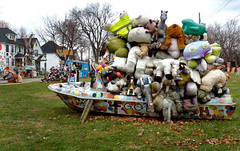 Well Stuffed Boat (FrogLuv) Tags: streetart art fall trash graffiti streetphotography detroitmichigan heidelbergproject