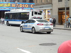 NYPD Ford Fusion (JLaw45) Tags: road street new york city nyc blue urban white ford america cops state metro manhattan united north police nypd midtown company domestic vehicle metropolis law motor states enforcement fusion northeast department patrol amrican