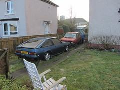Opel Manta GT/E Hatchback Plus Yugo Garden Ornaments Spotted In Glasgow Scotland - 1 Of 2 (Kelvin64) Tags: garden scotland glasgow ornaments plus spotted yugo manta opel hatchback in gte