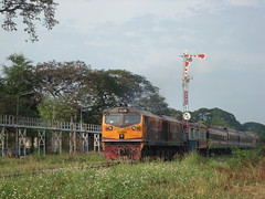 Thailand - Chiang Mai - Another depart (railasia) Tags: thailand chiangmai infra srt 2014 metergauge classicsignal dlocotrain