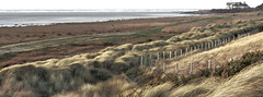 Open View ~ (Cal Killikelly) Tags: red sky seascape cold west water grass rock corner fence landscape island high kirby sand open wind wildlife tide dune north january estuary dee friday wirral the hoylake hilbre