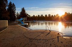 On Golden Pond (Clayton Perry Photoworks) Tags: winter skyline vancouver sunrise frozen stanleypark secondbeachpool explorebc explorecanada