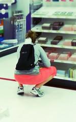 shopper ( Straykatt ) Tags: cute sexy yoga candid running stretch spandex lycra