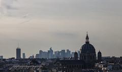 Paris roof (Lonely Soul Design) Tags: city roof paris la view defense