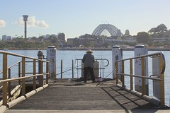Morning catch (Dan's Daily Photo) Tags: urban water island fishing harbour sydney wharf darling dansdailyphoto