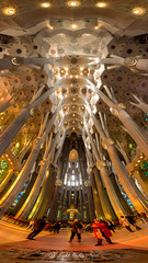 La Sagrada Família (Gaudi designed Church), Barcelona with GX7 and 9-18mm (Stitched)