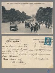 PARIS - Avenue du Bois de Boulogne (bDom [+ 3 Mio views - + 40K images/photos]) Tags: paris 1900 oldpostcard cartepostale bdom