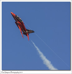 Red Arrow over Lincolnshire (Paul Simpson Photography) Tags: red airplane flying aircraft flight bluesky aeroplane lincolnshire redarrows raf photosof imageof photoof imagesof sampton paulsimpsonphotography february2015