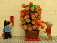 Grandma and sis decorating the citrus tree (Lesgo LEGO Foto!) Tags: new holidays sheep lego year goat newyear minifig collectible minifigs ram lunar lunarnewyear collectable minifigure 2015 minifigures legophotography yearofholidays