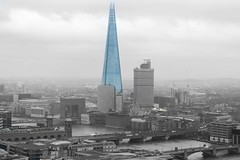 The Shard and London Bridge - Colour Pop (JackPeasePhotography) Tags: bridge london skyline londonbridge golden nikon europe gallery cathedral stpauls eu spire shard southwark the