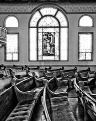 prayers left behind (LotusMoon Photography) Tags: light bw church window bench chapel blacknwhite prayers