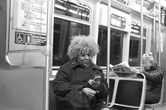 Chicago Brown Line (Bryan_Hayes) Tags: street city winter people urban chicago train cta