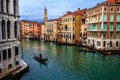 From the Rialto (davecurry8) Tags: bridge venice italy italia gondola palazzo venezia grandcanal rialto
