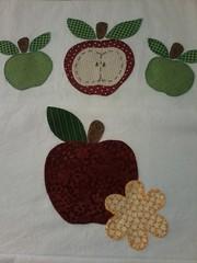 """20150223_142758 (""""ARTEIRICES"""" By R IANGUAS) Tags: frutas de patchwork morango copa panos cozinha cereja maa pera apliqu futas panosdepratos"""