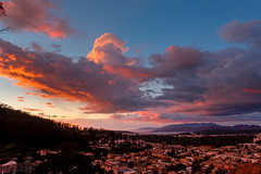 Burning sky (morozgrafix) Tags: sanfrancisco california pink sunset red clouds unitedstates tankhill tankhillpark