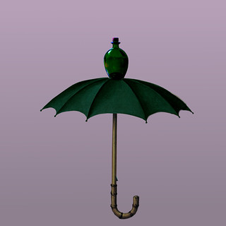 Magrits umbrella with bottle, not glass