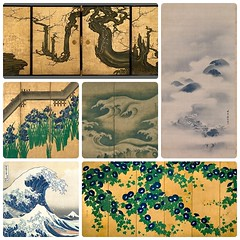 """Discovering Japanese Art: American Collectors and the Met"" (Danburg Murmur) Tags: newyorkcity newyork painting mosaic japaneseart metropolitanmuseumofart morningglories katsushikahokusai 葛飾北斎 roughwaves thegreatwaveatkanagawa suzukikiitsu 尾形光琳 36viewsofmountfuji 狩野探幽 kanosansetsu theoldplum 鈴木其一 狩野山雪 八橋図屏風 kanōsansetsu irisesatyatsuhashi ogatakōrin 月夜山水図 landscapeinmoonlight kanotanyū"