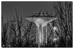 Night life (Hkan Dahlstrm) Tags: bw photography se skne sweden watertower sverige f56 uncropped malm 2015 vattentorn hyllie skneln ef200mmf28lusm canoneos5dmarkii lindeborg 100sek 2714022015193410redigera