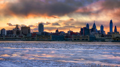 River of Ice (mhoffman1) Tags: winter sunset ice philadelphia skyline river frozen newjersey waterfront unitedstates dusk centercity camden riverfront philly hdr oldcity delawareriver photmatix sonyalpha a7r