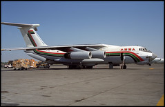 ST-APS - Sharjah (SHJ) 30.10.2000 (Jakob_DK) Tags: 2000 shj omsj sharjah staps ilyushin ilyushin76 ilyushin76td il76td cargo il76 ilyushinil76 il76candid ilyushinil76td sharjahairport sharjahinternationalairport azz azzatransport azzatransportcompany