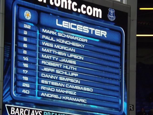 Leicester team