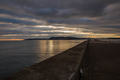 Quiet Night on the Breakwater (Explore) (trevorhicks) Tags: sunset sea sky water clouds canon evening harbour plymouth mount devon sound tamron breakwater 6d batten