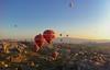 Hot Air Balloons in Cappadocia, Turkey (federico_scalco) Tags: blue summer sky sun turkey balloons fun photography photo nikon asia colours details august frame capture cappadocia kapadokia turchia 2011