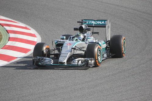 Nico Rosberg in his Mercedes in Formula One Winter Testing, March 2015