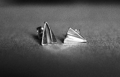 Paper plane earrings (Flavio Calcagnini) Tags: italy white black silver handmade jewelry made flavio sterling earrings calcagnini