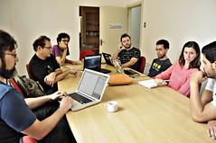 reunião de equipe do projeto Jovem hacker