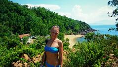 Irina (free3yourmind) Tags: blue sea sky mountains green beach nature palms hills vietnam irina danang sontra