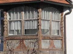 (:Linda:) Tags: themar town halftimbered veranda abandoned curtain pillar decay window 15 propertynumber germany thuringia historicism historismus house fachwerk column