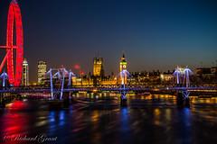 Westminster, London (Richardgrant1980) Tags: longexposure westminster twilight housesofparliament londoneye bigben bluehour riverthames embankment hungerfordbridge jubileebridge