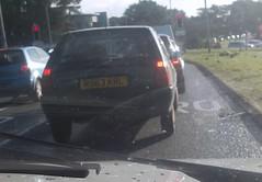 Citroen AX 1.0 Spree (occama) Tags: old uk car rain cornwall traffic 10 citroen plate commute ax spree reg cornish n963krl