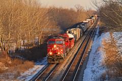 An EktaChrome Moment (Hair_Farmer_184) Tags: winter wisconsin canadianpacific cp gp38 gelocomotive watertownsub