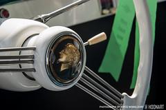 Steering wheel detail in 1959 DKW Monza (Bryce Womeldurf) Tags: detail green emblem florida badge steeringwheel 1959 dkw concoursdelegance monza ameliaisland 2016 ameliaislandconcoursdelegance