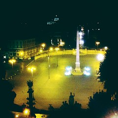 #rome #night #thegreatbeauty #goodnight #lights #street #iphone4 (Lifeinpicture) Tags: rome night thegreatbeauty goodnight lights street iphone4